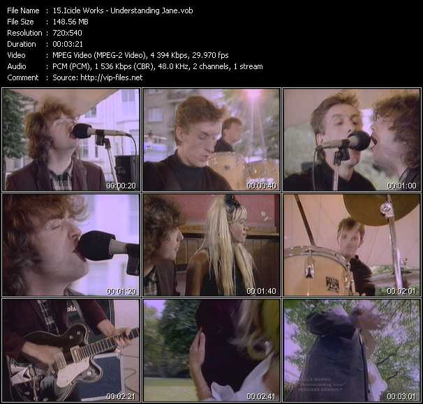 Screenshot of Music Video of Icicle Works - Video Song: «Understanding Jane»