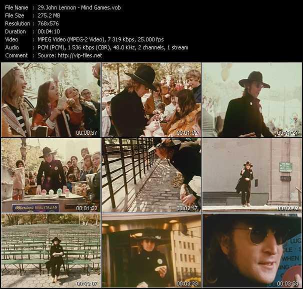 Music Video Of John Lennon Jealous Guy Download Hq Videoclip Vob