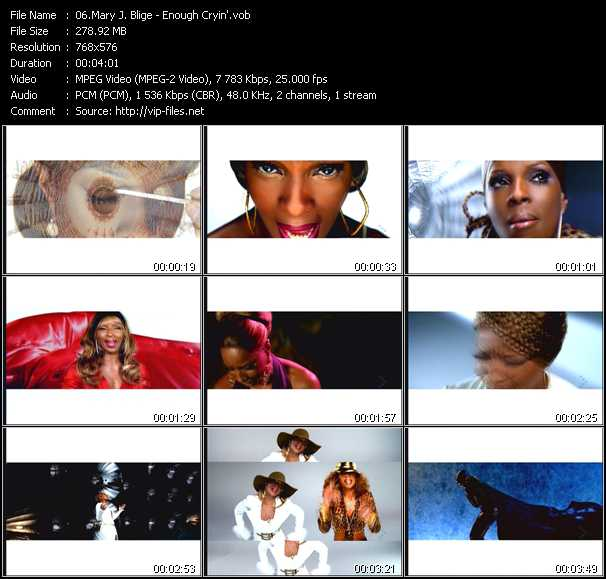 Enough Cryin Video Song By Mary J Blige Performing Download In Hq