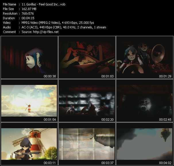 Music Video of Gorillaz - Feel Good Inc  - Download HQ