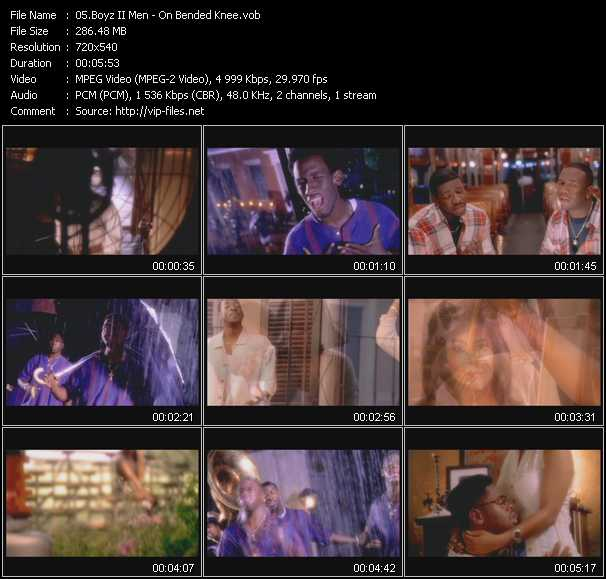 Music Video of Boyz II Men - End Of The Road (From