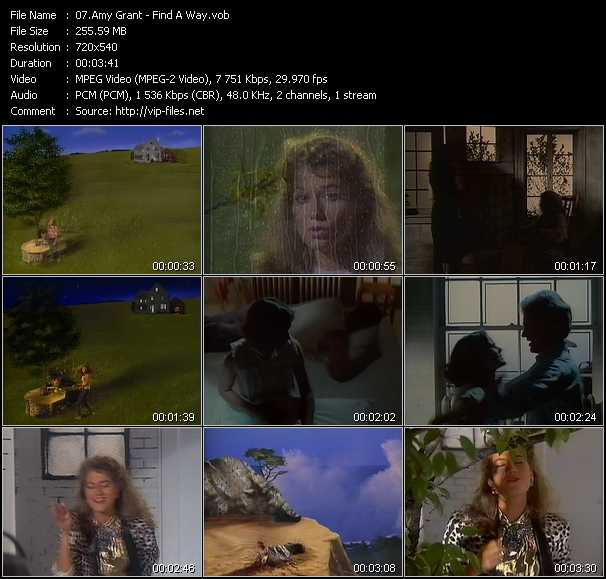 Screenshot of Music Video of Amy Grant - Video Song: «Find A Way»