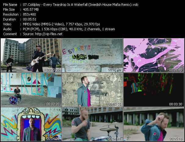 Music Video feat  Coldplay - Clocks - Download HQ Videoclip