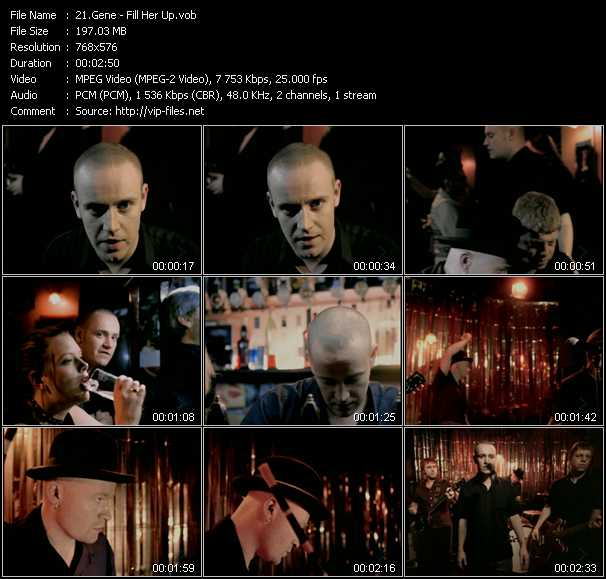 Screenshot of Music Video of Gene - Video Song: «Fill Her Up»