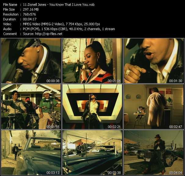 Music Video Of Donell Jones You Know That I Love You Download Hq Videoclip Vob