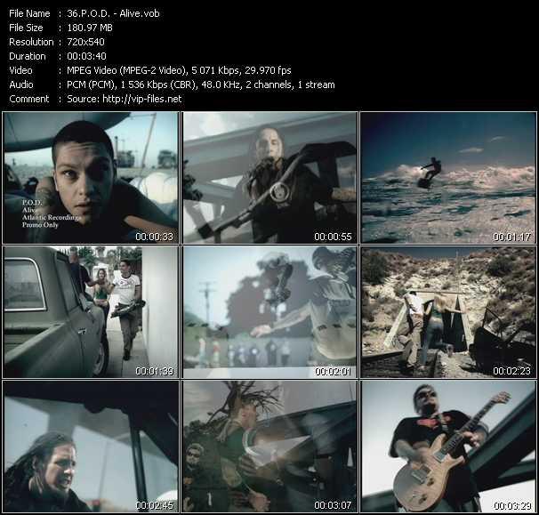 Music Video of P O D  - Satellite - Download HQ Videoclip(VOB)