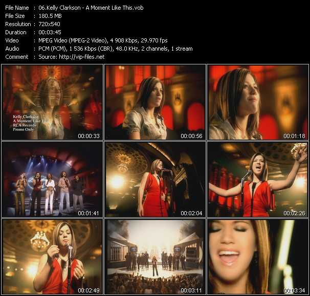 Video Song - A Moment Like This - download in High Quality