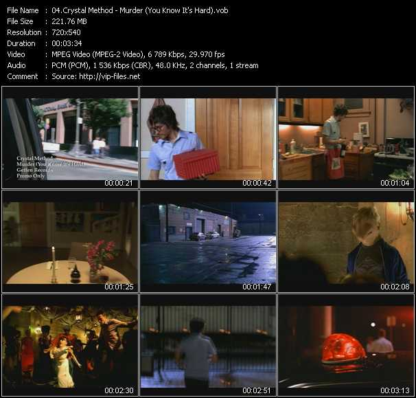 Music Video Of Crystal Method Name Of The Game Hybrid S Blackout In L A Mix Download Hq Videoclip Vob