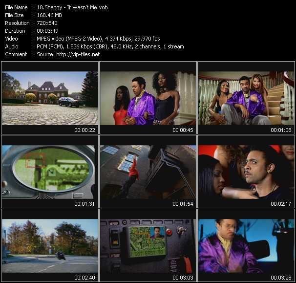 It Wasn't Me - Video Song by Shaggy Performing Download in HQ